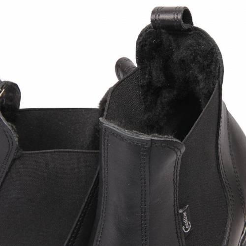 f56b5e1a5eae8 CAVALLINO Sztyblety skórzane ocieplane sztucznym futrem damskie - krótkie  wsuwane buty do jazdy konnej (rozmiary od 32 do 42) / 0415801