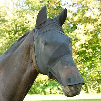 48 KERBL Fly Mask for horses with nose protection
