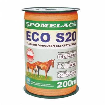 Electric fence tape POMELAC ECO S20 - 200m / 205-020-013