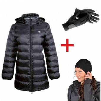 HKM SET Jacket VICTORIA +  winter gloves + termal hat