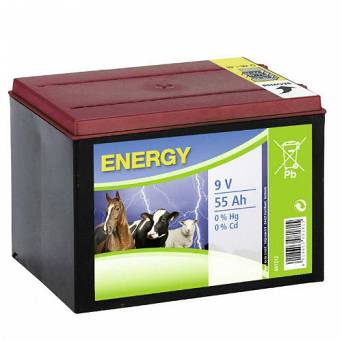 Dry Battery Zinc-Air CanAgri 9V 55Ah or electric fencing / 11-0061