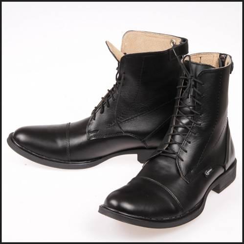 3e8599b65eb42 CAVALLINO Sztyblety jeździeckie - krótkie buty sznurowane do jazdy konnej,  skórzane z zamkiem z tyłu (rozmiary od 39 do 45)