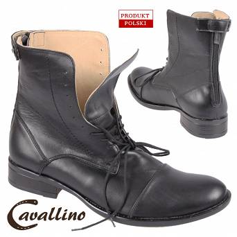 0435702 CAVALLINO Leather jodhpur boots with laces (sizes: 39 -45)