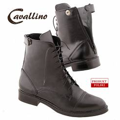 0435701  CAVALLINO Leather jodhpur boots with laces (sizes: 35-41)