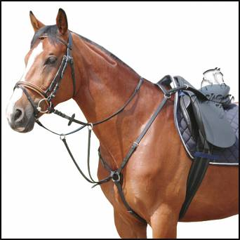 DAW-MAG Leather breastplate with running martingale