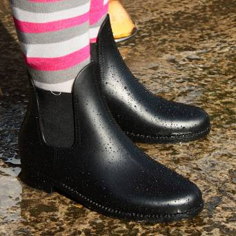0420 Rubber jodhpur boots (sizes: 33-41)