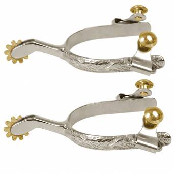 051601 STALLION-L Ladies' engraved western spurs