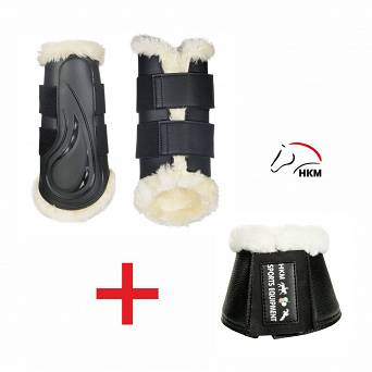 HKM Dressage protection boots COMFORT + Overreach boots COMFORT