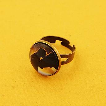 1242 OLD FASION Fingerring  necklace with horse