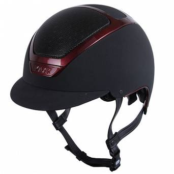 Riding helmet KASK DOGMA PAINTED black with burgundy shining frame  / HHE00027.365