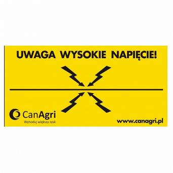 Warning sign CanAgri / 11-0235