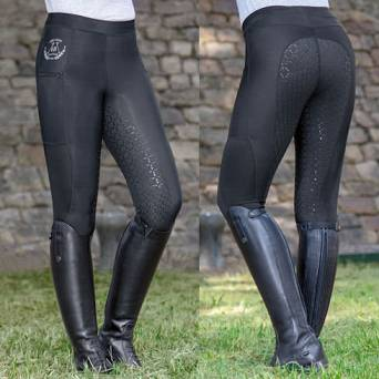 HKM Riding leggings MESH silicone full seat / 1001