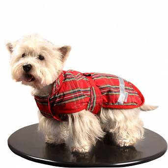 0231B STALLION Polyester and fleece jacket GLASGOW for medium dog