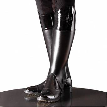 01604D CAVALLINO Ladies' set FLASH - riding boots with zipper + leather half chaps / Product order