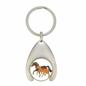 HAPPY ROSS Keyring with a token, mare with foal / 40610