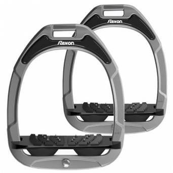 FLEX-ON Green Composite stirrups - inclinet ULTRA grip silver grey