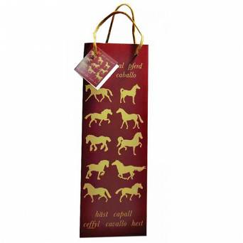 GRAY'S Horse Bottle Gift Bag