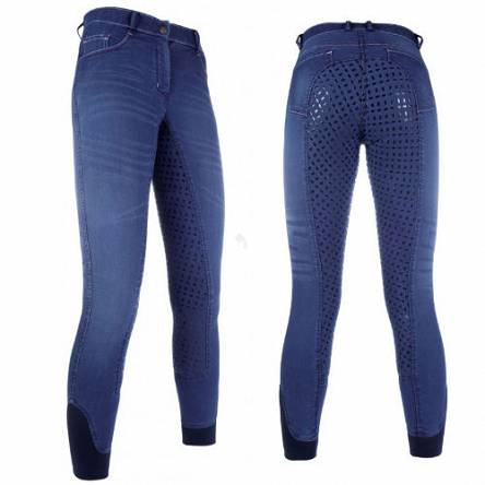 HKM Riding breeches SUMMER Denim Easy Jeans silicone 1105