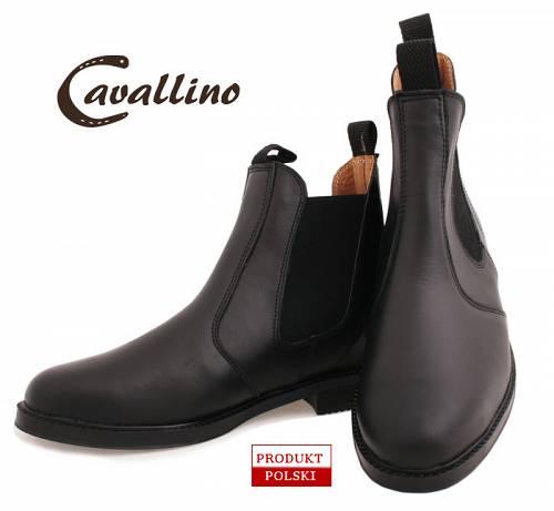 501b735f662a0 CAVALLINO sztyblety jeździeckie damskie - krótkie wsuwane buty do jazdy  konnej, skórzane (rozmiary od 32 do 42)