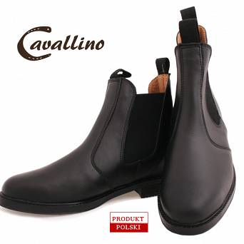 0415701   CAVALLINO Leather jodhpur boots (sizes: 32-42)