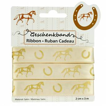 "HAPPY ROSS Ribbon ""Horse"", gold / 40584"
