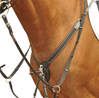 HKM Breastplate with martingale GUMMI