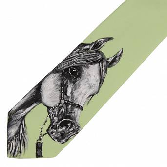 1110 AMIGO Tie with hand painted horse - 2016-2017 Collection