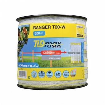 Electric fence RANGER T20-W TLD 200m (20mm) / 17114