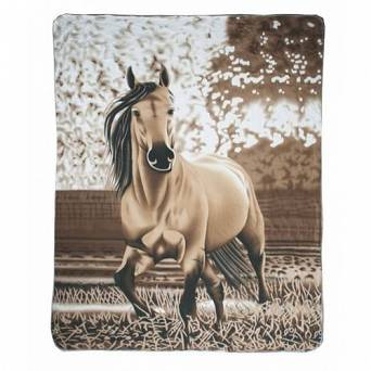HKM Fleece blanket Falbe / 11032