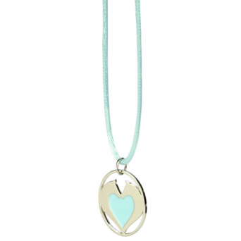 Necklace HAPPY ROSS horse's heart blue / 41296