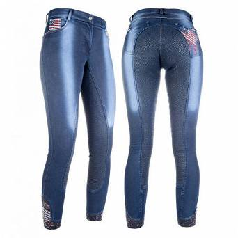 HKM Breeches - USA - Denim Jeggings with  / 8572