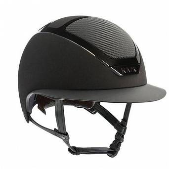 Riding helmet  KASK STAR LADY black with black shining frame / HHE00013.210
