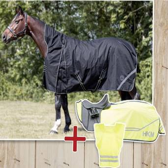 HKM Paddock rug set Innsbruck 200g +  Vest +  Training rug Safety