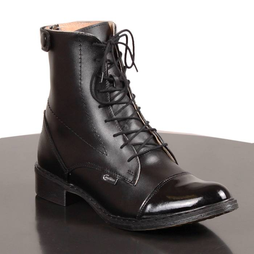 005db4b035753 CAVALLINO Sztyblety jeździeckie damskie- krótkie buty do jazdy konnej  sznurowane, skórzane z zamkiem z tyłu z lakierowanym noskiem (rozm. od 35  do 41)