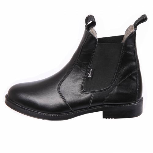 bcfdff5c83eb0 Krótkie buty do jazdy konnej, wykonane z miękkiej skóry bydlęcej, ocieplane  futrem naturalnym. Gładka bezpieczna, antypoślizgowa podeszwa. Bardzo  wygodne.